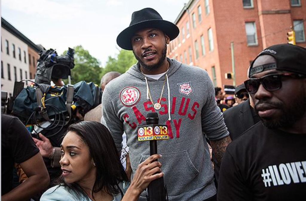 melo at Baltimore march